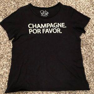 Chaser Champagne Por favor tee